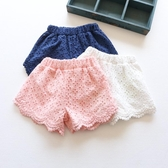 3兒童褲子女外穿秋冬女寶寶蕾絲5歲女孩韓版白色薄款短褲【萬聖夜來臨】