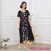 【RED HOUSE 蕾赫斯】幾何圖形長洋裝