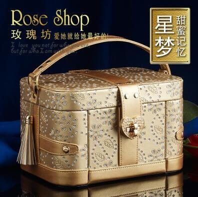 首飾盒 歐式木質公主高檔帶鎖復古飾品盒 首飾收納盒 大珠寶盒