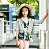 【雙十二】預熱新款兒童分體泳衣女孩甜美椰子款中大童少女學生溫泉游泳套裝     巴黎街頭