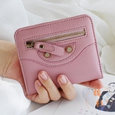 韓版女士小錢包女短款小清新薄款簡約折疊女式錢夾【橘社小鎮】