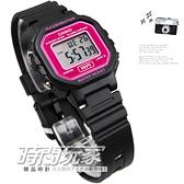 CASIO卡西歐 LA-20WH-4A 精緻運動感 輕鬆戴著走 電子錶款膠帶款 電子錶 (黑/紫紅色) LA-20WH-4ADF