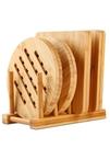 天竹餐墊隔熱墊家用大號菜墊子創意餐桌墊防燙墊碗墊竹墊鍋墊杯墊 夢幻小鎮
