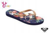 ROXY TAHITI VI 成人女款 拖鞋 海灘 品牌印花 人字拖 夾腳拖 L9403#黑彩◆OSOME奧森鞋業