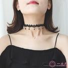項鍊復古洛麗塔蕾絲choker流蘇項鍊女鎖骨項鍊項圈短款頸帶