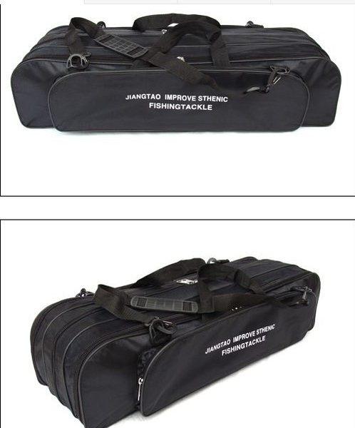 [協貿國際]  90cm魚具包3層特大雙肩漁具包
