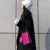 火龍果小眾包包單肩小方包2021新款亞克力鏈條洋氣手提斜挎子母包 璐璐