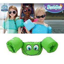 兒童泳衣 浮力夾克 美國學習式救生浮力衣 綠色笑臉 Puddle Jumper 體重:14-23公斤 2-6歲 經典款