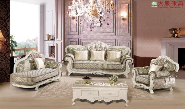 【大熊傢俱】660 歐式布沙發 多件式沙發 貴妃椅 布藝沙發 組合沙發  新古典沙發 絨布沙發