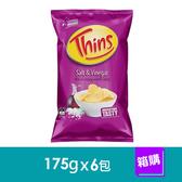澳洲THINS洋芋片-海鹽酸醋口味(175gx6包)-箱購