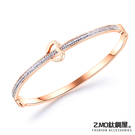 Z.MO鈦鋼屋 女性手環 白鋼手環 簡約鑲鑽手環 愛心造型 生日禮物 單個價【CKS954】