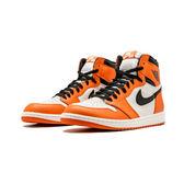 Air Jordan 1 Retro High OG AJ1 白橙白扣碎籃球鞋 555088-113