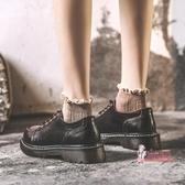 娃娃鞋 圓頭日系小皮鞋女平底學生韓版百搭秋季英倫馬丁鞋原宿軟妹學院風 2色34-40