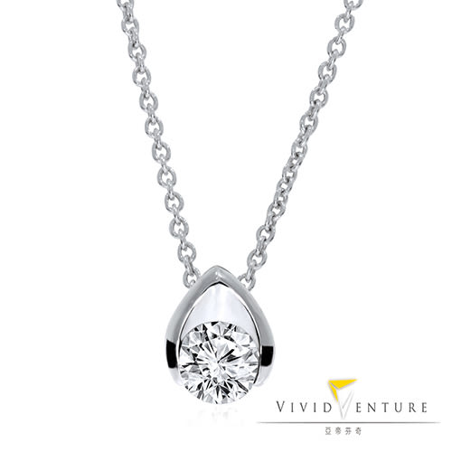 GIA鑽石項鍊 30分 FI2 八心八箭 白K金台 亞帝芬奇 幸福依偎