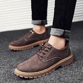 秋季新款男靴子低幫百搭馬丁鞋男士馬丁靴男潮靴英倫工裝短靴 歐韓