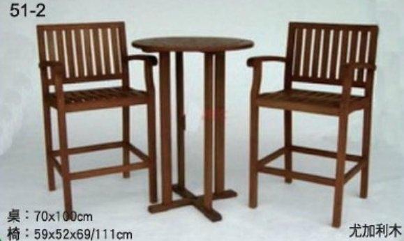 【南洋風休閒傢俱】戶外休閒桌椅系列-70尤加利木桌椅組 戶外桌椅 適 戶外 庭院 民宿(L51-2 #90270)
