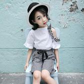 女童套裝 兩件套 時尚休閑女孩洋氣童裝時髦