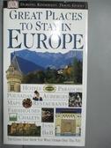 【書寶二手書T4/旅遊_GQR】Great Places To Stay In Europe