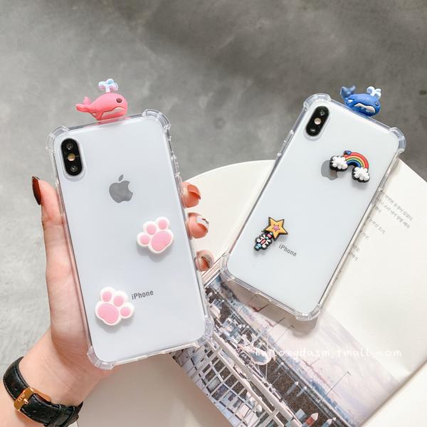 華碩 Zenfone6 5 ZE620KL 5Z ZS620KL Max Pro M2 MAX M1 M2 ROG Phone2 ZS600KL 立體鯨魚透明殼