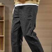 牛仔褲 秋冬季加絨牛仔褲男士潮牌寬鬆直筒韓版潮流長褲子