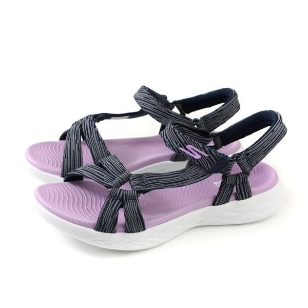 SKECHERS ON-THE-GO 涼鞋 女鞋 深藍/粉紫 15319NVLV no947