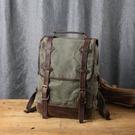 【Solomon 原創設計皮件】防潑水帆布後背包  輕便真皮背包書包 旅行包袋