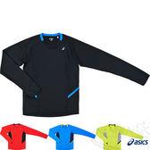 ASICS亞瑟士 慢跑長袖T恤(黑*藍) 後腰附鑰匙口袋 2014新款