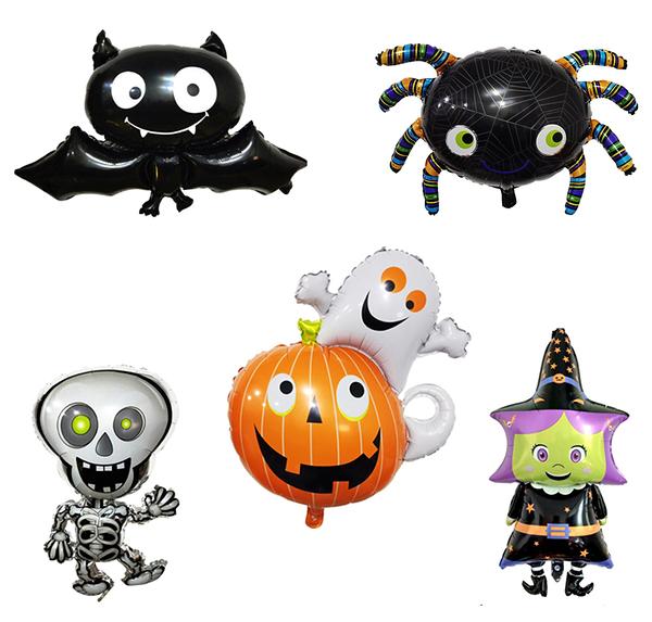 萬聖節 蝙蝠 女巫 黑蜘蛛 幽靈南瓜 骷髏人 骨頭人 氣球 鋁膜氣球 活動 派對 橘魔法 現貨 PARTY