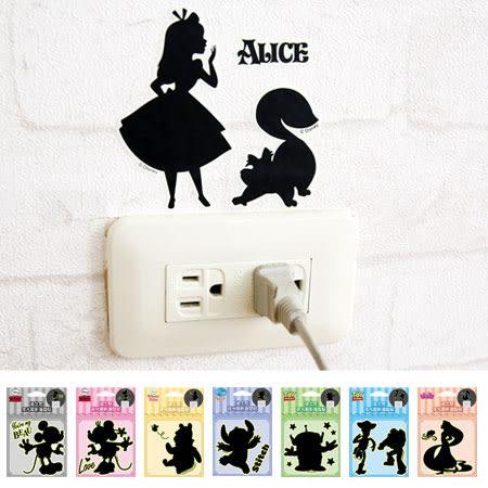 正版 迪士尼夜光剪影造型貼 壁貼 開關裝飾貼 開關貼 米奇 米妮 維尼 玩具總動員 史迪奇 公主
