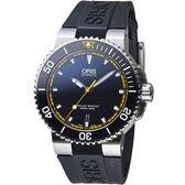 Oris Aquis 專業潛水 機械錶 0173376534127-0742634EB