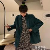(免運)秋冬韓版寬鬆休閒小西服翻領長袖百搭燈芯絨西裝外套女