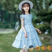 女童連身裙夏裝女孩大童公主裙純棉薄款兒童裙子【淘嘟嘟】