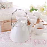 下午茶茶具組合含咖啡杯+茶壺-6人創意歐式高檔陶瓷茶具69g72【時尚巴黎】