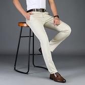 新款男士褲男西褲寬鬆直筒中年商務薄款大碼男褲【全館免運】