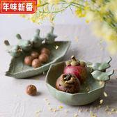 異形陶瓷陶藝釉下浮雕小鳥水果碗