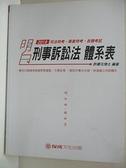 【書寶二手書T8/進修考試_DYX】司法高普-刑事訴訟法體系表_許睿元