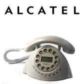 法國 Alcatel 古典造型有線電話 原色白