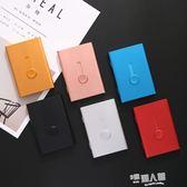 自動名片夾手推式輕便名片盒男士女士金屬卡片盒訂製刻字  9號潮人館