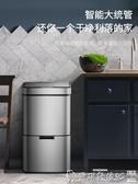 垃圾桶麥桶桶分類不銹鋼垃圾桶家用智慧感應帶蓋大號廚房客廳干濕分離LX爾碩數位