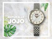 【時間道】NATURALLY JOJO  時尚簡約五珠帶仕女腕錶 / 白貝面玫瑰金刻鐵帶(JO96907-80F)免運費