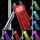 七彩蓮蓬頭  LED發光變色帶燈花灑 感溫變色 七彩自變色淋浴噴頭免電 城市科技