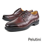 【Pelutini】經典真皮厚底紳士鞋 酒紅色(6505-WIN)