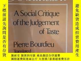 二手書博民逛書店Distinction:罕見A Social Critique