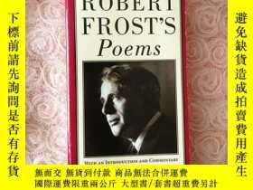 二手書博民逛書店Robert罕見Frost's PoemsY366313
