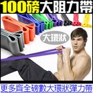 100磅大環狀阻力LATEX乳膠拉力帶彈力繩拉力器伸展重量訓練機另售瑜珈抗力球柱單槓啞鈴壺鈴trx-1