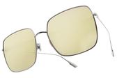 Dior 太陽眼鏡 STELLAIRE1 010SQ (銀-黃水銀粉鏡片) 歐美時尚 潮流款 墨鏡 名星款 大方框 # 金橘眼鏡