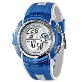 JAGA捷卡 時尚 休閒 運動 電子錶 男錶 運動錶 學生錶 軍錶 兒童手錶 M688-DE 白藍色