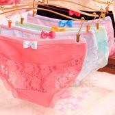 糖果撞色純棉蕾絲內褲 日系蝴蝶結可愛少女內褲 均碼【庫奇小舖】不挑色出貨