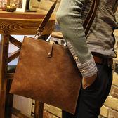 男側斜背大包 復古手提包《印象精品》y458