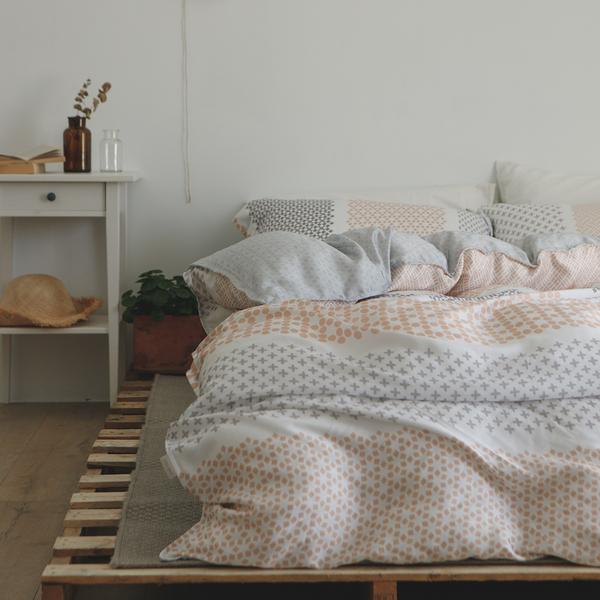 天絲 床包被套組(薄) 加大【澄夏】涼感 親膚 100%tencel 萊賽爾纖維 翔仔居家